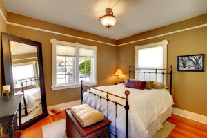 Bedroom interior house design.