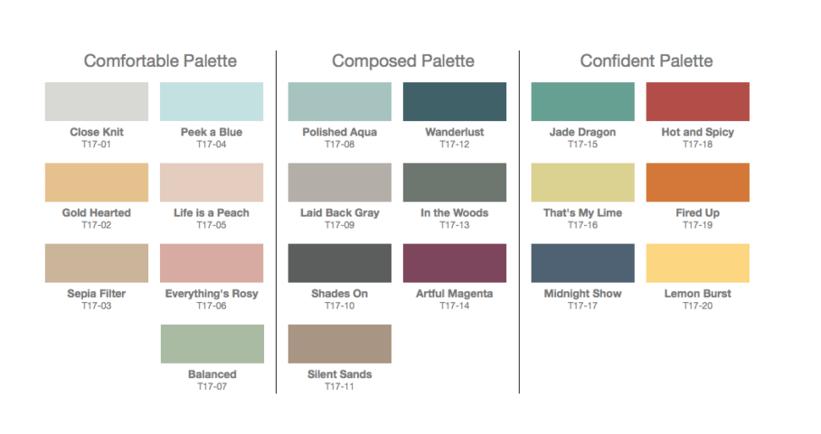 Behr's 2017 Color Palettes