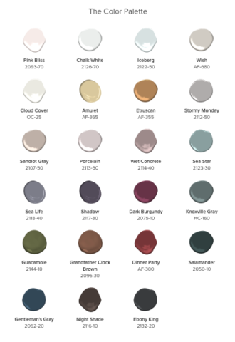 Benjamin Moore 2017 Paint Colors