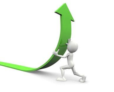 upward trend arrow - green